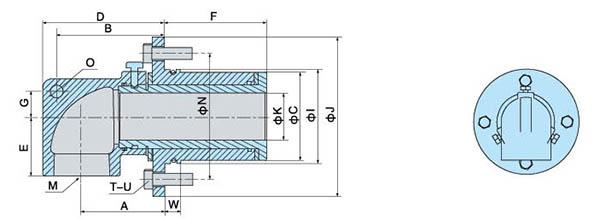 连铸机专用旋转接头内部结构图