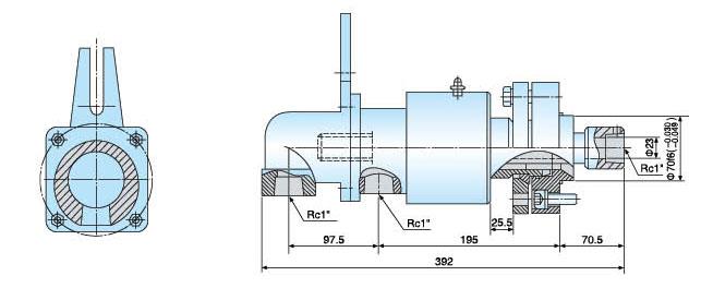 加热炉旋转接头内部结构图