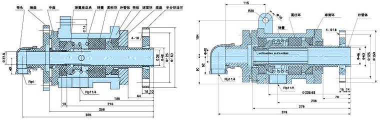 干燥机旋转接头内部结构图