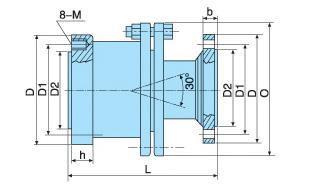 钢厂梁式加热炉用旋转接头内部结构图